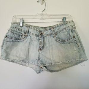 3for$25 light blue short shorts jean shorts